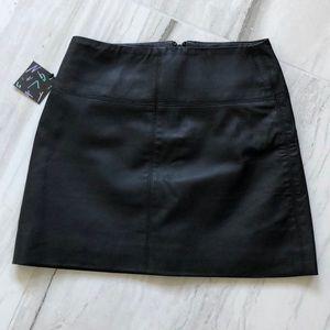 NWT Nasty Gal Vegan Leather Black Mini Skirt XXS